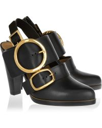 Chloé Buckled Leather Pumps - Lyst