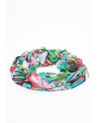 Missguided - Zuma Flamingo Tropical Print Scarf - Lyst