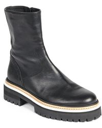 Ann Demeulemeester Lug Sole Ankle Boots - Lyst