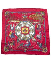 Hermes Preowned Joies D Hiver Silk Scarf - Lyst
