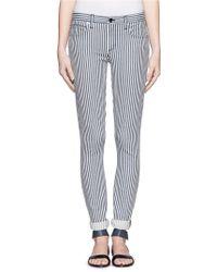Theory 'billy' Striped Stretch Jeans - Blue