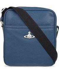 Vivienne Westwood Leather Cross-Body Bag - For Men blue - Lyst