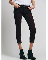 Free People Rolled Crop Skinny - Lyst