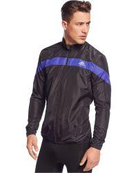 Adidas Response Climalite Wind Jacket black - Lyst