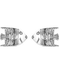 Theo Fennell 18ct White-gold Angel Fish Stud Earrings - Metallic