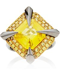 Tito Pedrini One Of A Kind Yellow Sapphire Ring