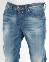 DIESEL | Light-blue Safado Washed Slim-fit Straight Jeans | Lyst