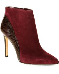 Vince Camuto Plum Kasi Booties - Lyst