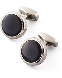 Tateossian Round Fiber Optic Glass Cuff Links - Lyst