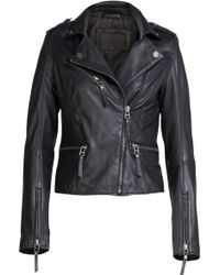 Karl Lagerfeld Leather Biker Jacket - Lyst