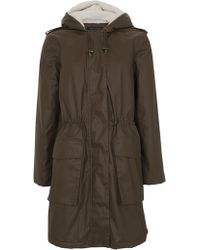 French Connection - Starkey Wax Parka Coat - Lyst