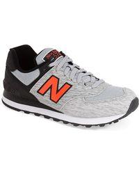 New Balance | gray '574 - Sweatshirt' Sneaker | Lyst