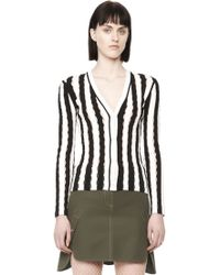 Alexander Wang | Exclusive Striped V-neck Cardigan | Lyst