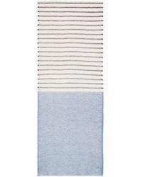 Tory Burch Double Stripe Scarf - Lyst