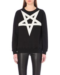 Gareth Pugh Star-Motif Cotton-Jersey Sweatshirt - For Women - Lyst