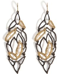 Alexis Bittar Phoenix Crystal Embellished Lacy Leaf Earrings - Lyst