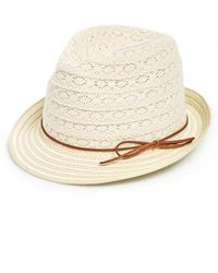 Phase 3 - Lace & Straw Trilby Hat - Lyst
