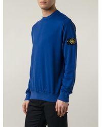 Stone Island Crew Neck Sweatshirt - Lyst