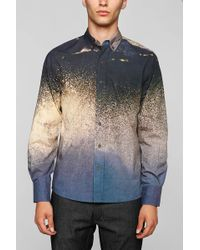 Vanishing Elephant Digital Print Wave Buttondown Shirt - Lyst