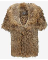 Meteo By Yves Salomon Hooded Raccoon Fur Vest - Lyst