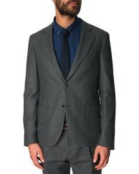 Atelier Scotch Slim-Fit Grey Wool Suit Integrated Pouch And Turn-Up Trousers - Lyst