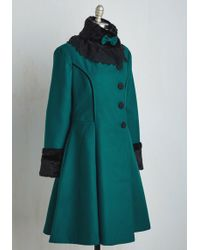 Hell Bunny London - Book Tour Bliss Coat In Teal - Lyst