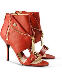 Moschino High-Heeled Sandals - Lyst