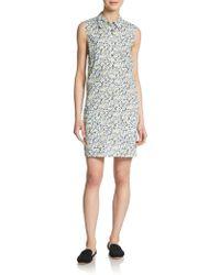 Equipment Floral-Print Shirtdress - Lyst