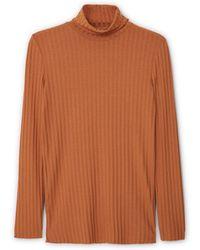 Mango   Textured Striped T-shirt   Lyst