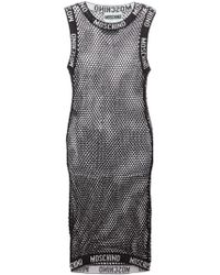 Moschino Black Netted Dress - Lyst