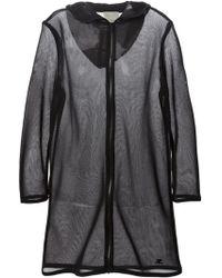 Courreges Mesh Hooded Coat - Lyst
