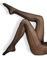 Wolford Black Celina Tights - Lyst