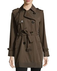 Moncler Delmas Pleated Trench Coat - Lyst