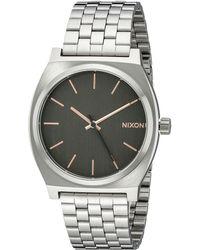 Nixon The Time Teller gray - Lyst