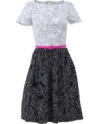 Oscar de la Renta Floral Cotton Dress floral - Lyst