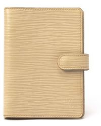 Louis Vuitton Preowned Ivory Epi Leather Agenda Pm - Lyst