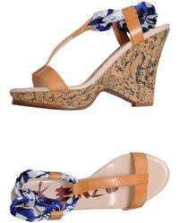 Kenzo Brown Platform Sandals - Lyst