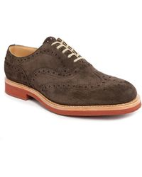 Church's | Downtown G Pr Brown Suede Perforated Wingtip Brogues | Lyst