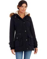 DKNY Black Anorak Jacket - Lyst