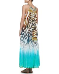 Camilla Printed Tiedye Coverup Dress - Lyst