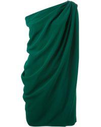 Lanvin Draped One Shoulder Dress - Lyst