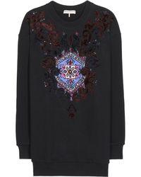 Emilio Pucci Embellished Cotton Sweatshirt - Lyst