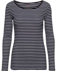 Noa Noa - Single Rib Striped Tshirt Long Sleeve - Lyst