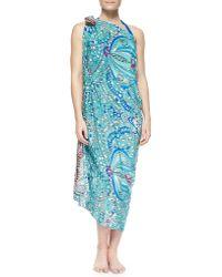 Gottex Cleopatra Printed Silk Pareo  - Lyst