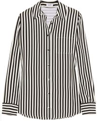 Altuzarra Chika Striped Silk Crepe De Chine Shirt - Lyst