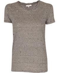 IRO Gabry Black Hole Stripe Short Sleeve T-Shirt - Lyst