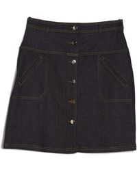 Carven | Denim A-line Skirt | Lyst
