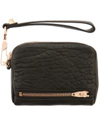 Alexander Wang - Large Black Fumo Purse With Rose Gold Hardware - Lyst