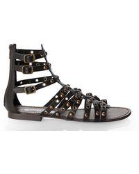 Steve Madden Black Plato Gladiator Sandals - Lyst