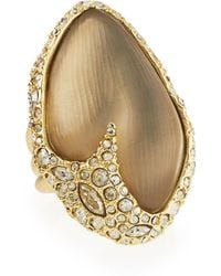 Alexis Bittar Lucite Crystal Cocktail Ring - Lyst